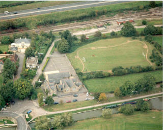 Ariel view of Bathampton Primary School and Canal